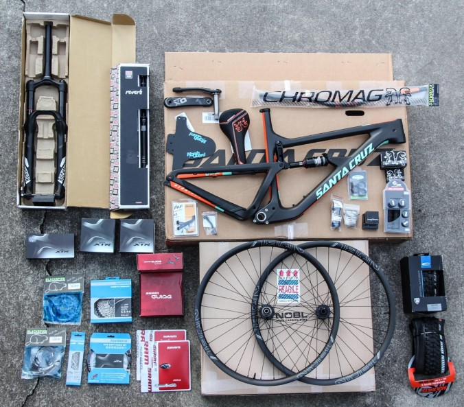 Santa Cruz pre bike build photo