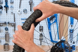 Change a bike tube unseat the bead